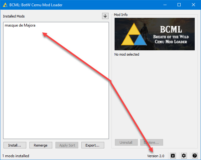 BCML: Breath of the Wild Cemu Mod Loader [The Legend of